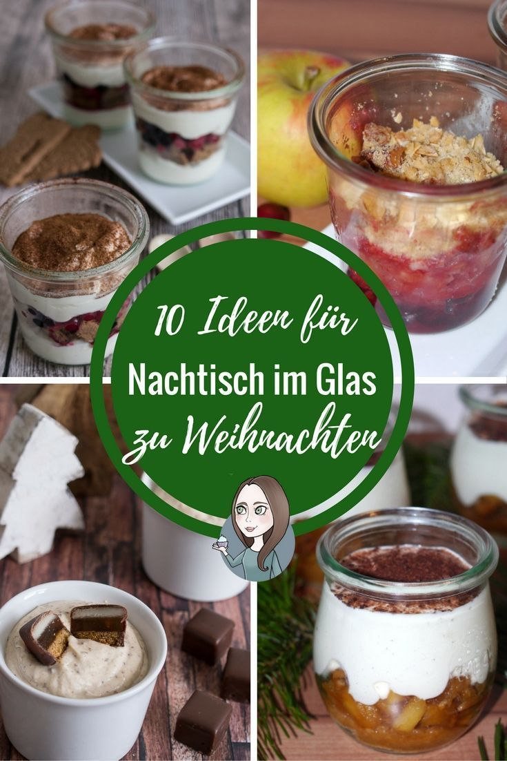 10 Ideen für Nachtisch im Glas zu Weihnachten