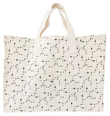 Einkaufstasche Graphic / 58 X 45 Cm   Stoff, Schwarzes Muster Auf Weißem  Grund Von