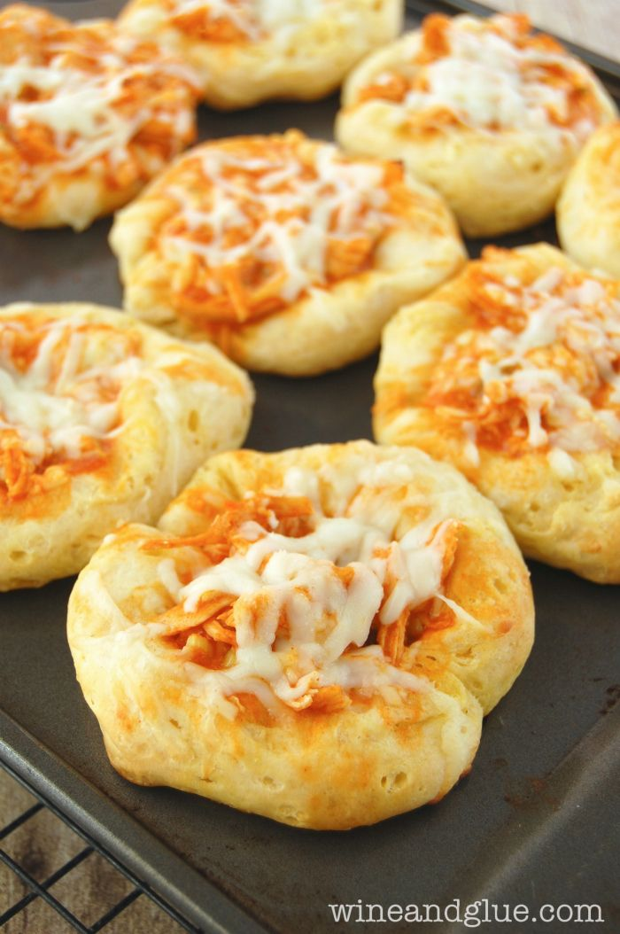 Buffalo Chicken Cups ~  super simple to make and totally delicious!