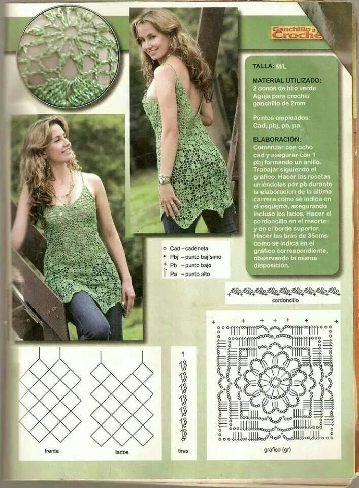 Unit crochet pattern top women