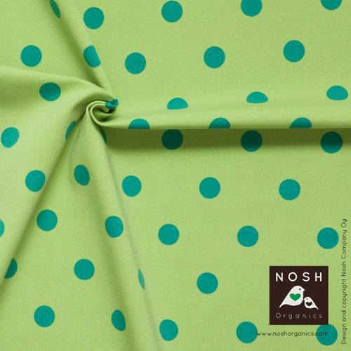 NOSH Polka Dots, Lime/Green. Organic cotton jersey