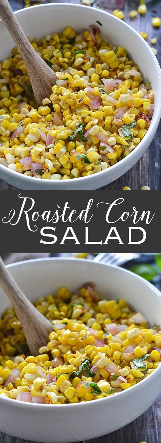 Roasted Corn Salad | www.motherthyme.com