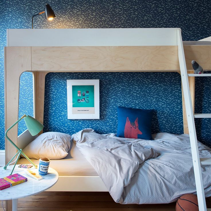 The elegant Perch twin-sized bunk bed is the perfect centerpiece for any child's room. Its compact footprint leaves plenty of room for play and additional furnishings. The versatile Perch easily separates into a twin-sized loft bed and a standalone lower twin bed, giving many configuration options.
