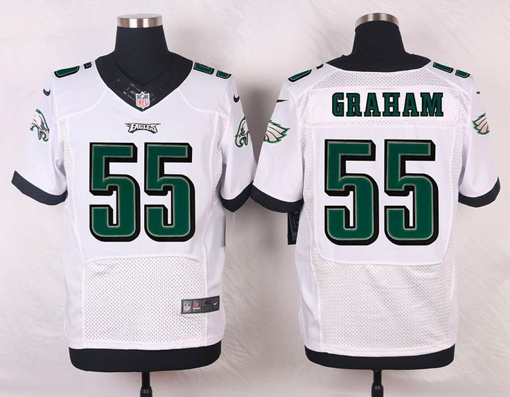 Men's NFL Philadelphia Eagles #55 Brandon Graham White Elite Jersey