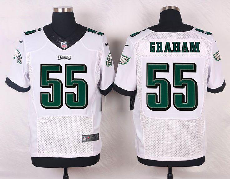 Men's NFL Philadelphia Eagles #55 Brandon Graham White Elite Jersey