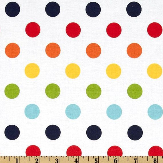 Boppy Cover  Riley Blake Medium Dots Rainbow by LullabiesLollipops