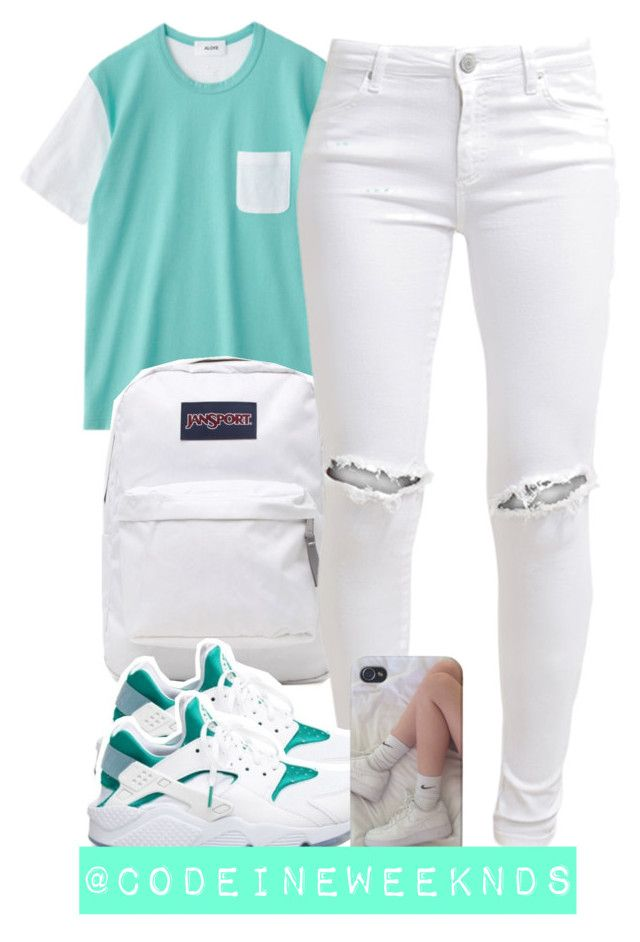 """""""8:25:15"""" by codeineweeknds ❤ liked on Polyvore featuring JanSport, FiveUnits and NIKE"""