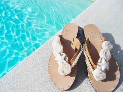 White Roses  Sandals