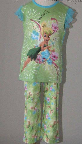 Disney 2pc Tinkerbell Pyjamas size 18M and 24M /  2 pièces Clochette 17$