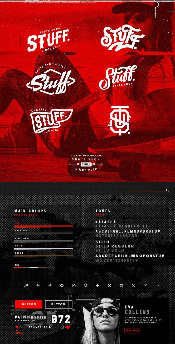 Stuff. Skate Shop on Behance