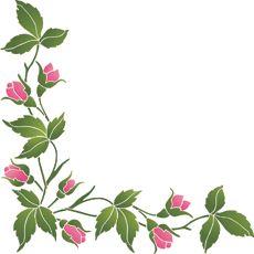 Розовый угол (трафарет для росписи)