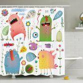 Found it at Wayfair.ca - Kids Imaginary Creatures Fun Shower Curtain Set