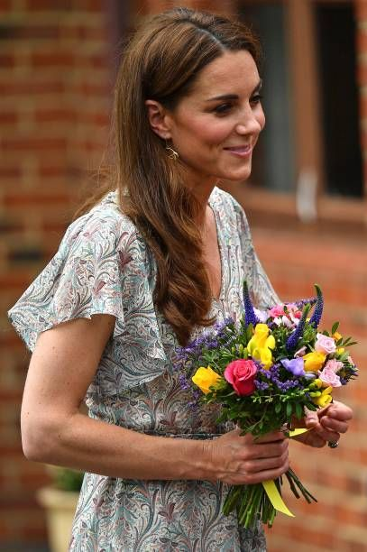 Britain's Catherine, Duchess of Cambridge leav…