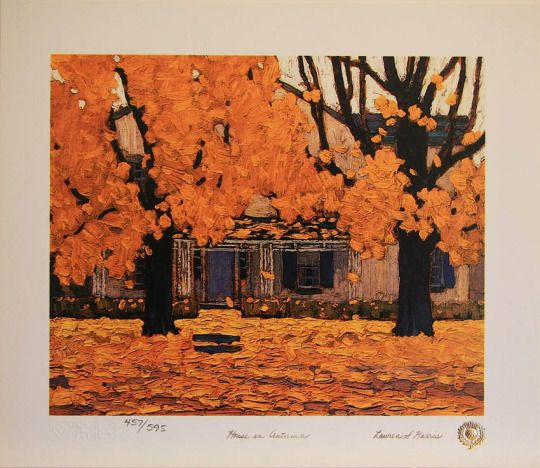 House in Autumn, Lawren Stewart Harris. Canadian (1885 - 1970)