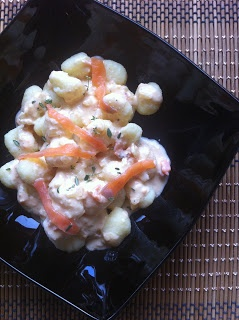 Las recetas de la familia Tartufo: Ñoquis con salsa de salmón (gnocchis)