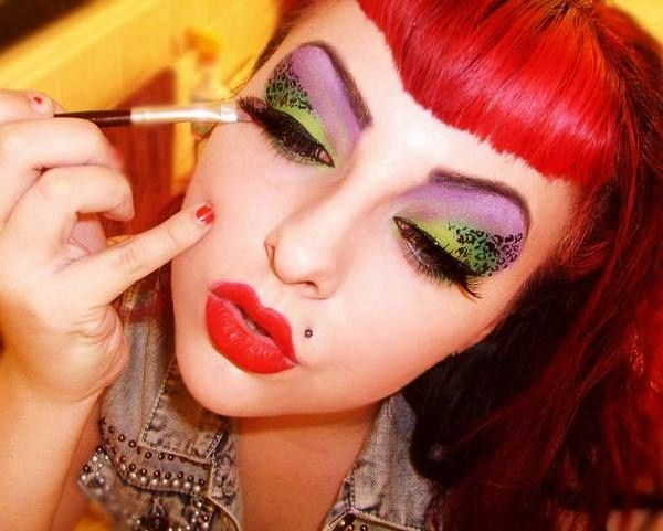 Rockabilly Punk Unique Makeup Eyes