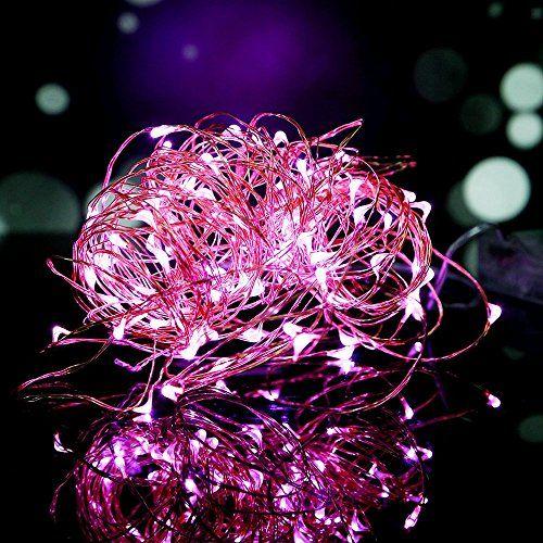 Lampada Striscia, OSAN Luci Lampade Striscia a Batteria 3MT 30 LED 4.5V per Feste Natale Halloween Decorazione Casa Giardino Rosa