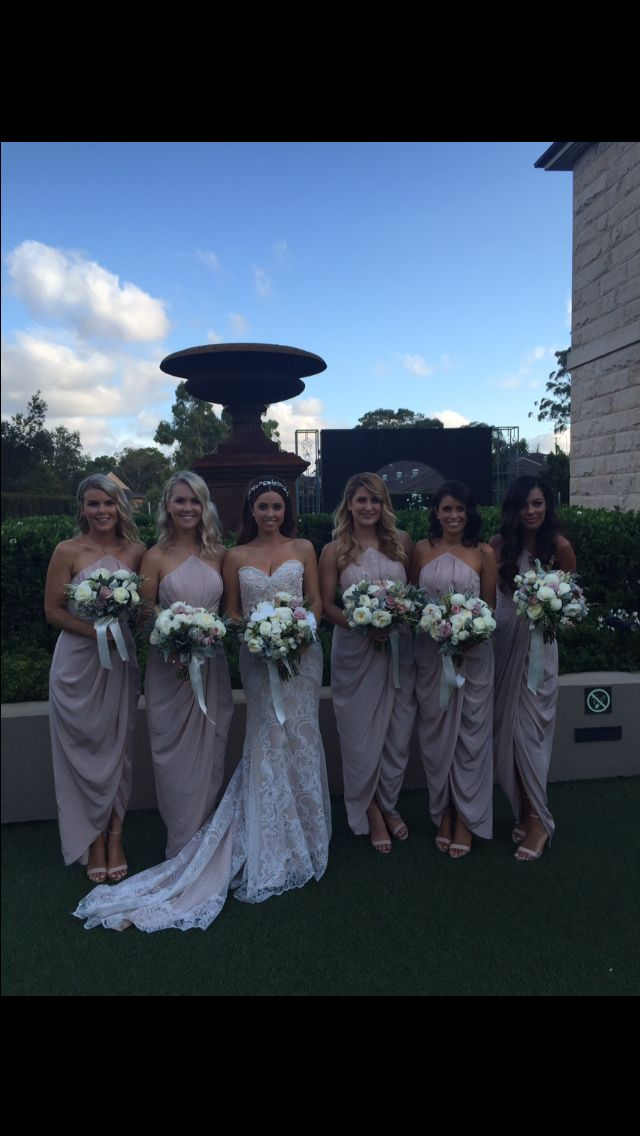 Blushing bridesmaids in zimmerman