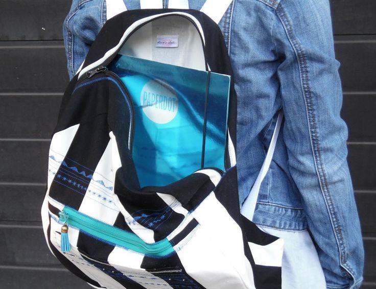 """Backpack,, striped """". from Alice's idea...  www.alicesidea.pl"""