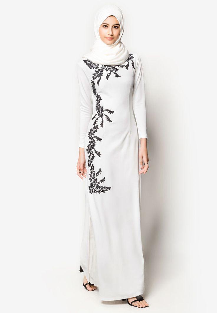 Buy Zalia Embroidered Column Dress Online   ZALORA Malaysia