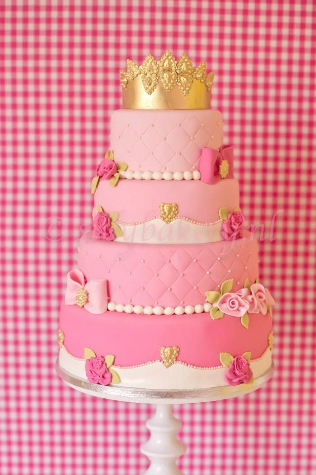 Princess Cake Idea, need to get this made for her, she will love it!  #cake #cakes #cupcake #cupcakes #birthday #party #idea #ideas #kids #girl #princess #pinterest #love @Mad4Clips