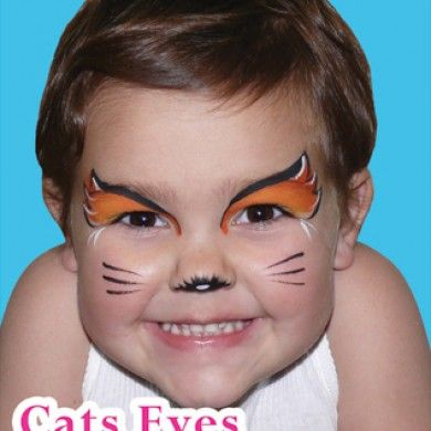 simple face paint idea for smaller kids who cant be still - Halloween Easy Face Painting