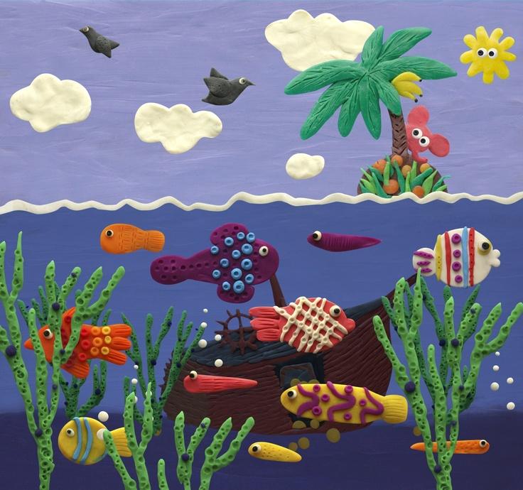 Plasticine ocean Live wallpaper for #Android #screenshot.