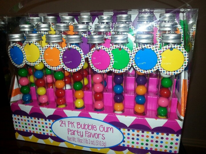 Bubble Gum Party Favors from Sams Wholesale.