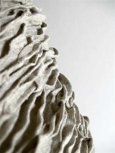 Fabric Manipulation Used To Create Surface Texture Nature