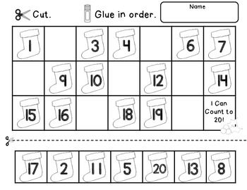 Christmas Count to 20 includes a Math Center Activity and Worksheets to reinforce counting and number order to 20. The Christmas theme makes it easy to keep your class engaged in learning right up until Christmas break.