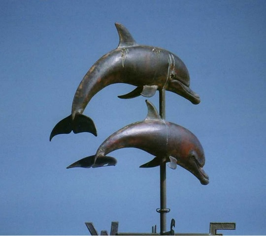 Copper Dolphins Weathervane