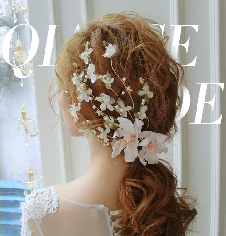 Korean silk flower hairpin headdress pink flowers sweet bride married hair accessories wedding dress with jewelry 0910-in Hair Jewelry from Jewelry & Accessories on Aliexpress.com | Alibaba Group