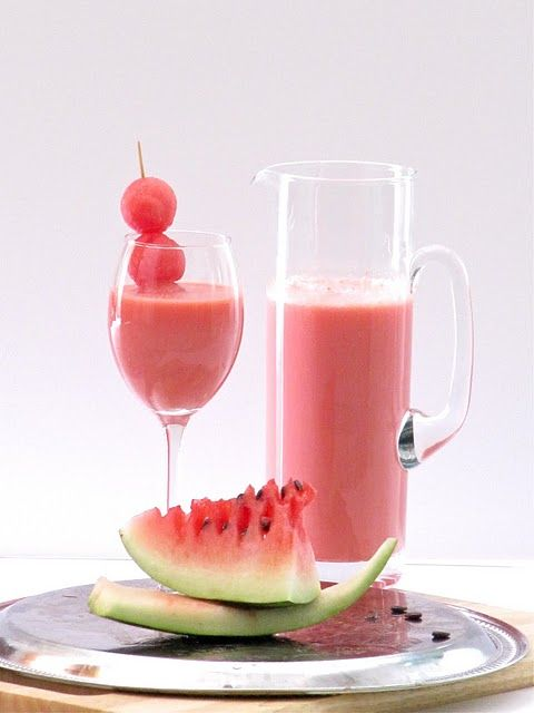 Watermelon Shake   By Plateful   Whether you are hosting a party or just planning some fun times with your loved ones, this refreshing and fast-to-fix recipe is the ideal drink to serve. It's fabulously light, and an absolute favorite with my kids. We enjoy it so much that it has become a Ramadan time tradition in our home—a delicious part of the iftar-party menu every year.   Via: food52.com