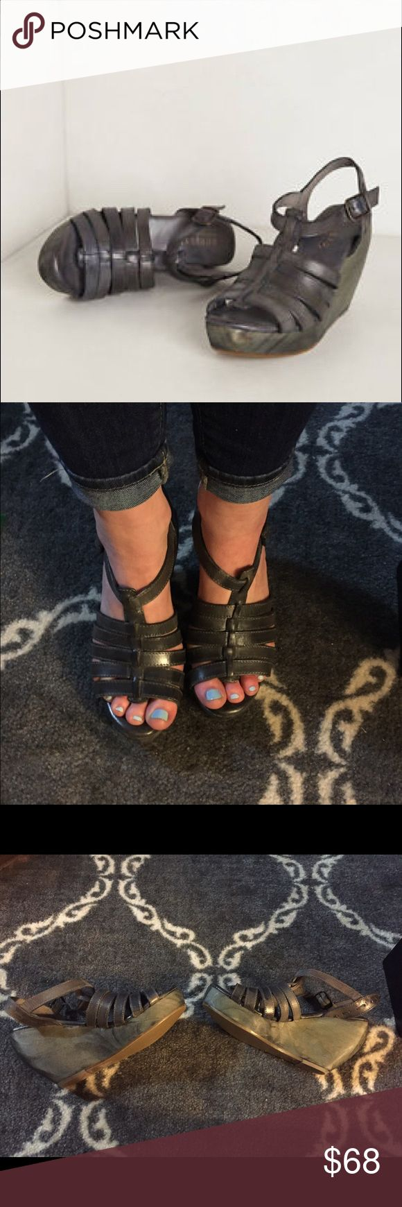 Bed Stü Alana Platform Sandal These never worn platforms are perfect for spring/summer nights. Can be dressed up or down. Bed Stu Shoes Platforms