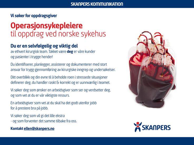 Operasjonssykepleiere til oppdrag ved norske sykehus