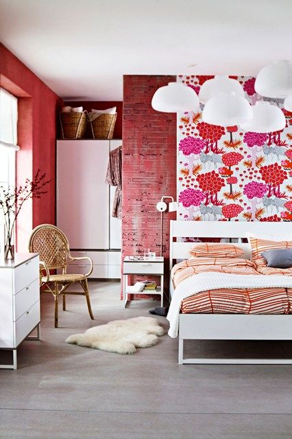 Prints and Repeat - Bedroom Design Ideas, Pictures, Decorating Ideas (houseandgarden.co.uk)