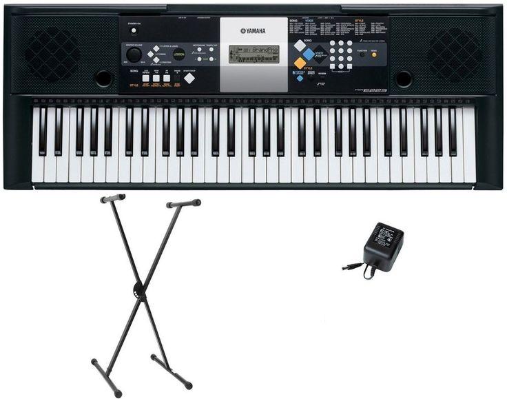 New Yamaha psr-e233 61-Key Portable Piano Keyboard Stereo Sound+ Stand + Adapter #Yamaha