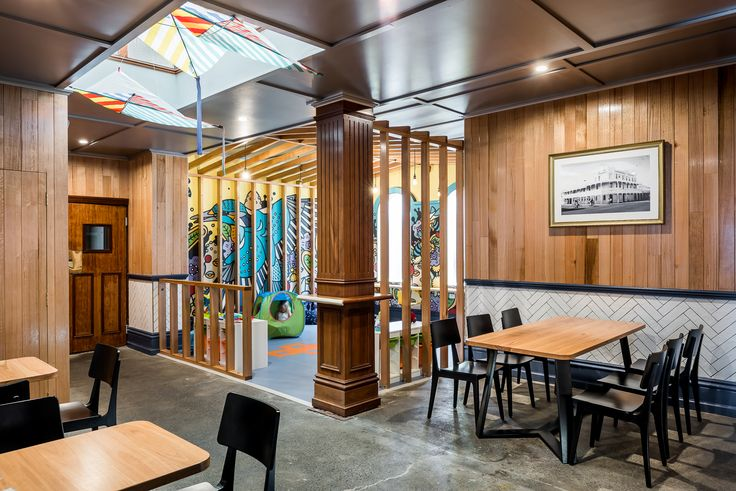 Hospitality Design by Benson Studio. Children's play area at the Historic Rose Hotel in Western Australia