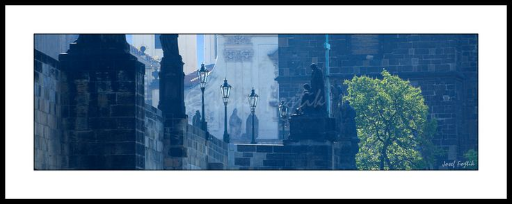 Framed fine art print - Charles Bridge, Prague, Czech Republic. Photo: Josef Fojtik - www.joseffojtik.com - https://www.facebook.com/Fineartphotoprints