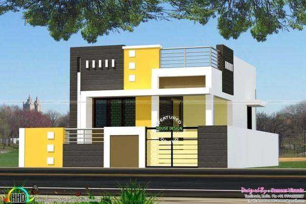 Single Floor Home Front Design Stylish Modern Single Floor House