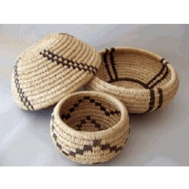 Traditional Coiled Basket Weaving Kit (makes one 4in. Basket, Expanded version)
