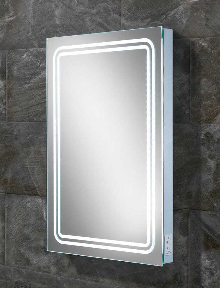HIB Rotary LED Back-Lit Mirror With Shaver Socket - 77416000