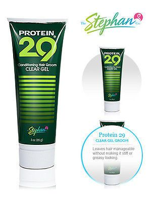 Stephan's Protein 29 Conditioning Hair Grooming Men's Clear Styling Gel 3oz.