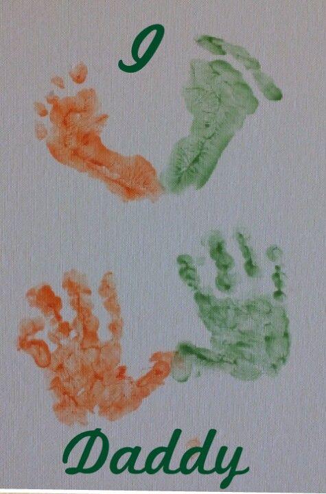 I love you daddy. Miami hurricanes baby prints