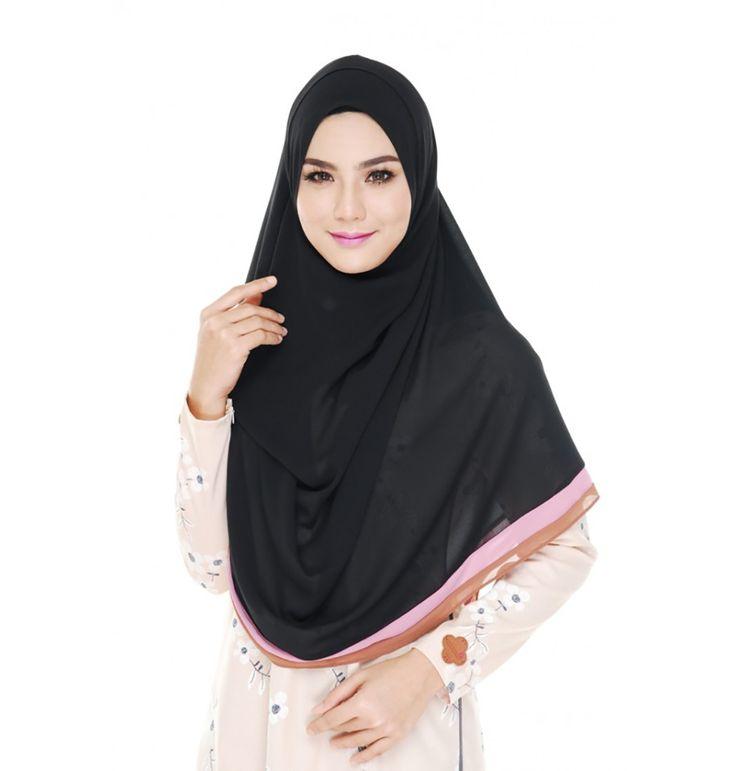 Women Chiffon Plain Hijab Shawls Scarf