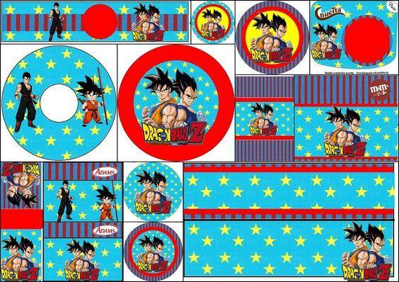 Dragon Ball Z: Free Printable Candy Bar Labels.