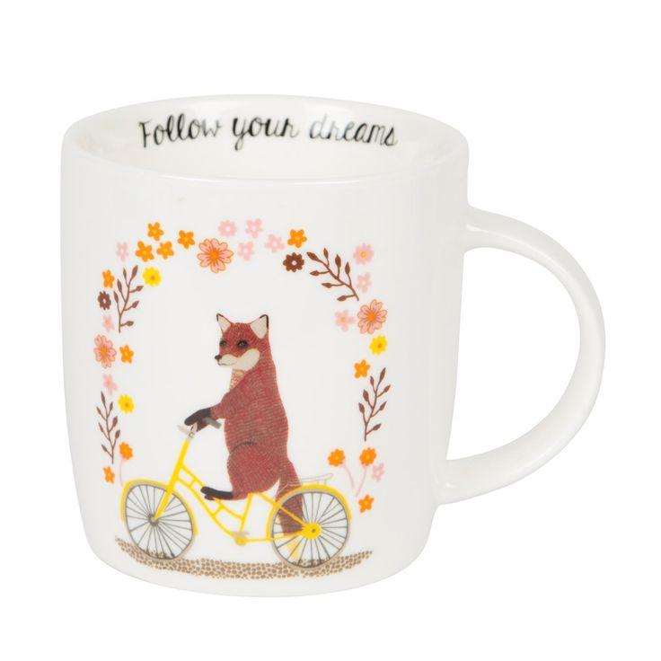 Follow your dreams - mok.  Een super leuke mok met de tekst: Follow your dreams.  Leuk om te geven, leuk om te krijgen.. of leuk om zelf te houden! www.Millows.nl