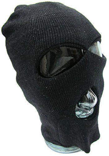 FACE MASK 3 Hole, Wool Zorro Ninja , Fancy Dress Costume 1 Size Senior,Balaclava Face Mask Bike Motorcycle Helmet Hood Ski Sport Neck Face Mask Halloween Horror