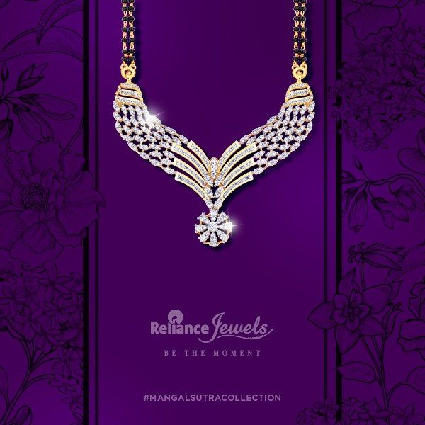 #MangalsutraCollection  Give the symbol of love the admiration it deserves.  Reliance Jewels Be The Moment  www.reliancejewels.com  #Reliance #RelianceJewels #Jewel #Jewellery #Mangalsutra #Gold #Diamond