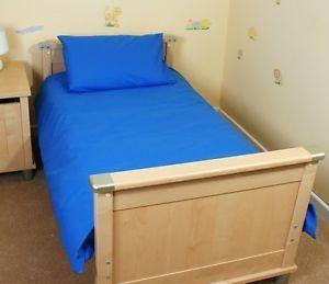 Bright Blue/Royal Cot Bed/Junior Duvet Set - Cot Bed Duvet Cover - 100% Cotton | eBay